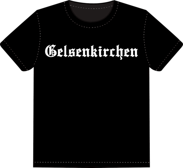 "T-Shirt ""Gelsenkirchen Old English"""